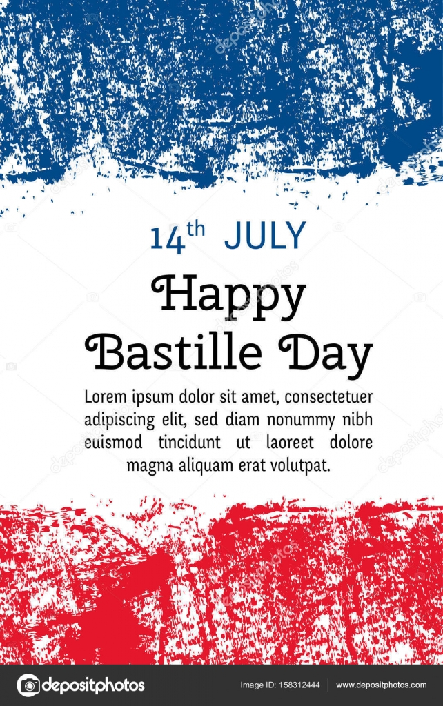 Vector illustration bastille day french flag in trendy grunge style 14 july design template for poster banner flayer greeting invitation card independence day card france national day design vector by missmeadows stopboris Images