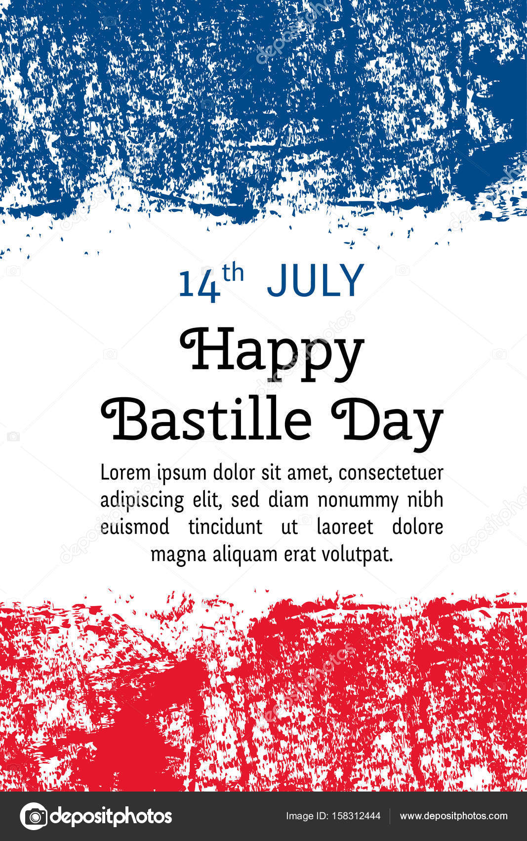Vector illustration bastille day french flag in trendy grunge style vector illustration bastille day french flag in trendy grunge style 14 july design template for poster banner flayer greeting invitation card m4hsunfo
