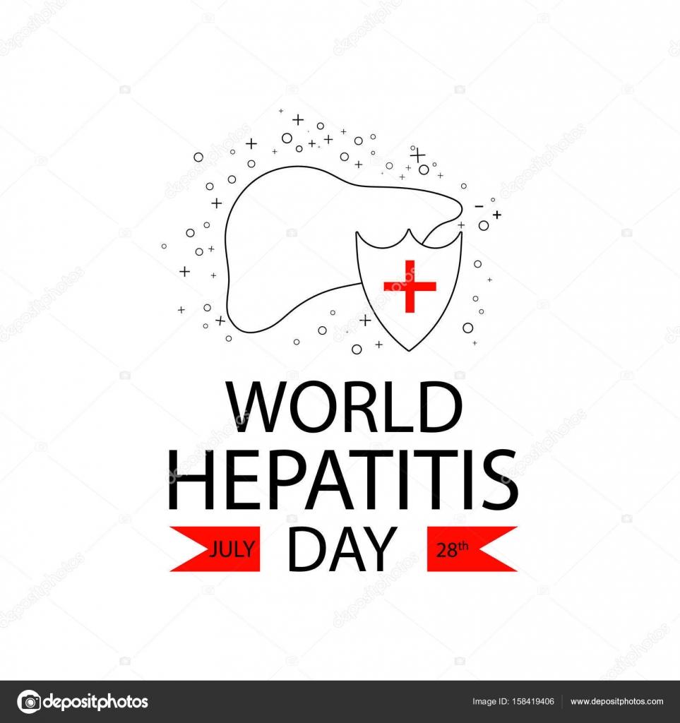 Vektor-Illustration des Welt-Hepatitis-Tag. Erkrankung der Leber ...