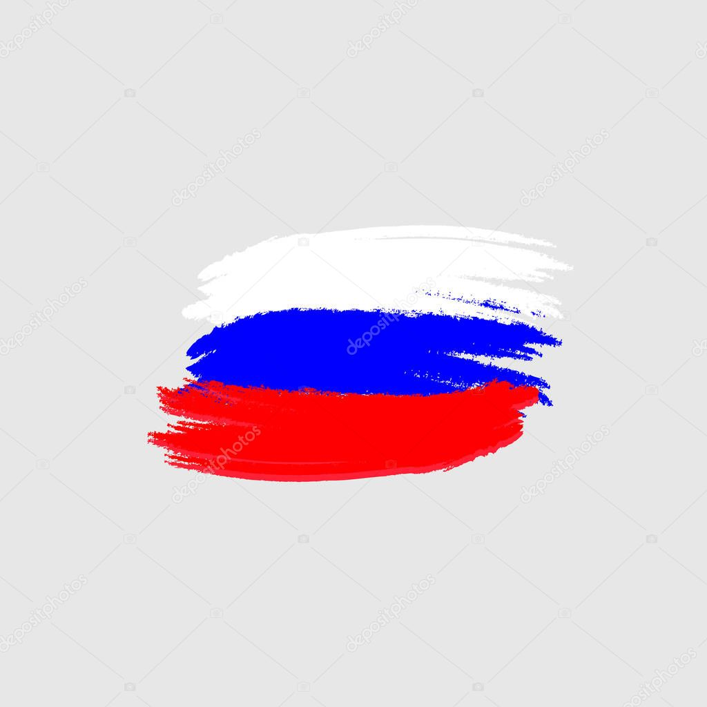 Vector Flag Of Russia Vector Illustration For Russian Federation
