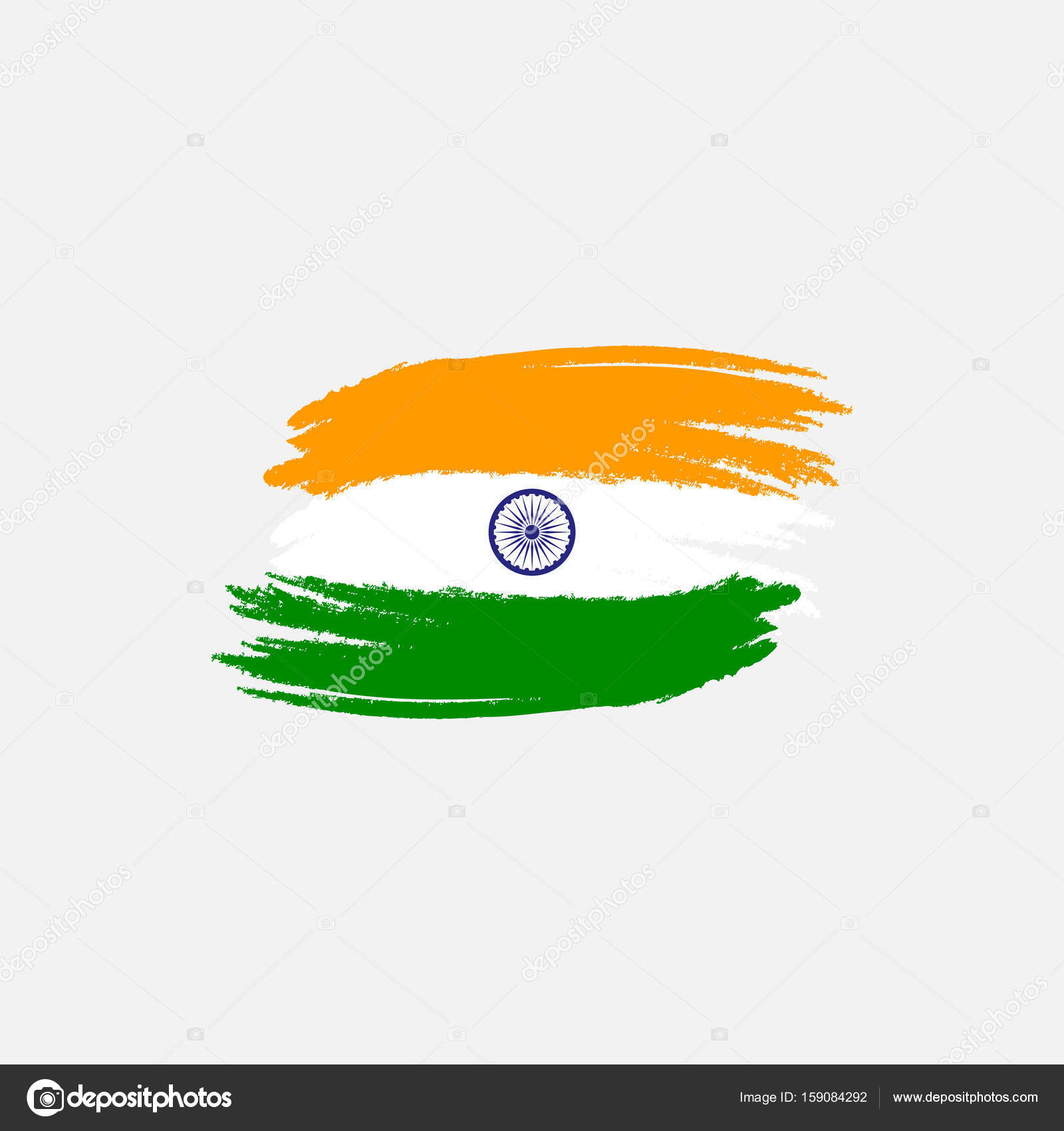Vector flag of India. Vector illustration for Indian National Day ...