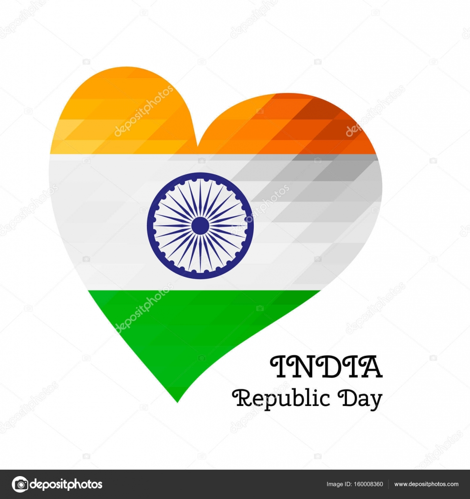 Vector illustration Indian Independence Day, India flag in trendy ...