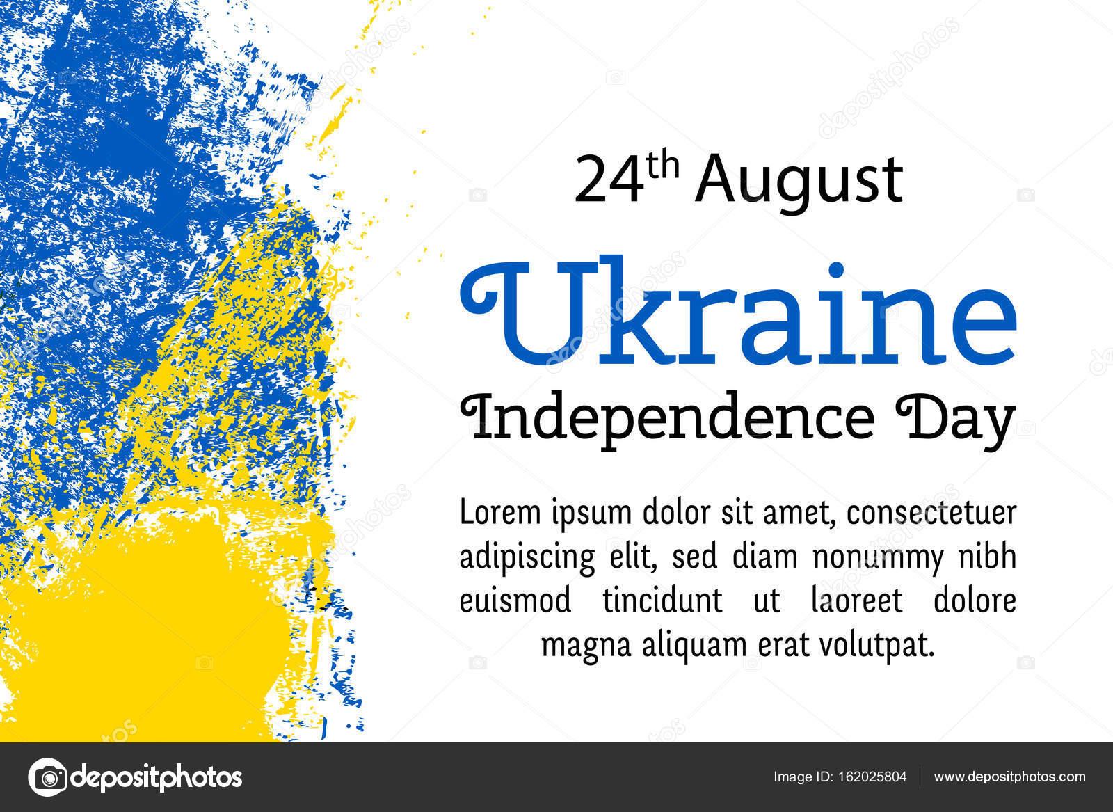Vector Illustration Ukraine Independence Day Ukrainian Flag