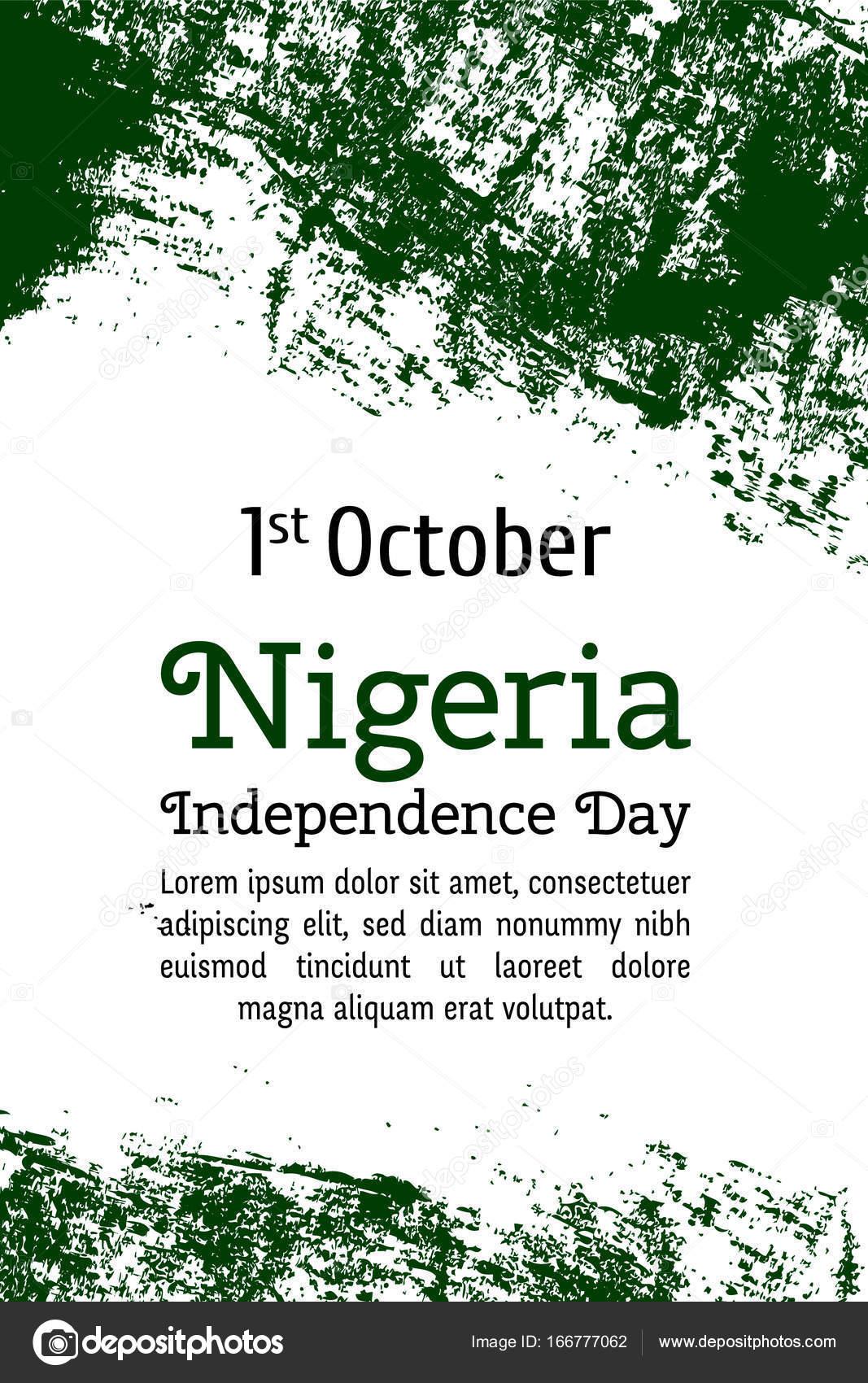 Vector Flag Of Nigeria Vector Illustration For Nigerian