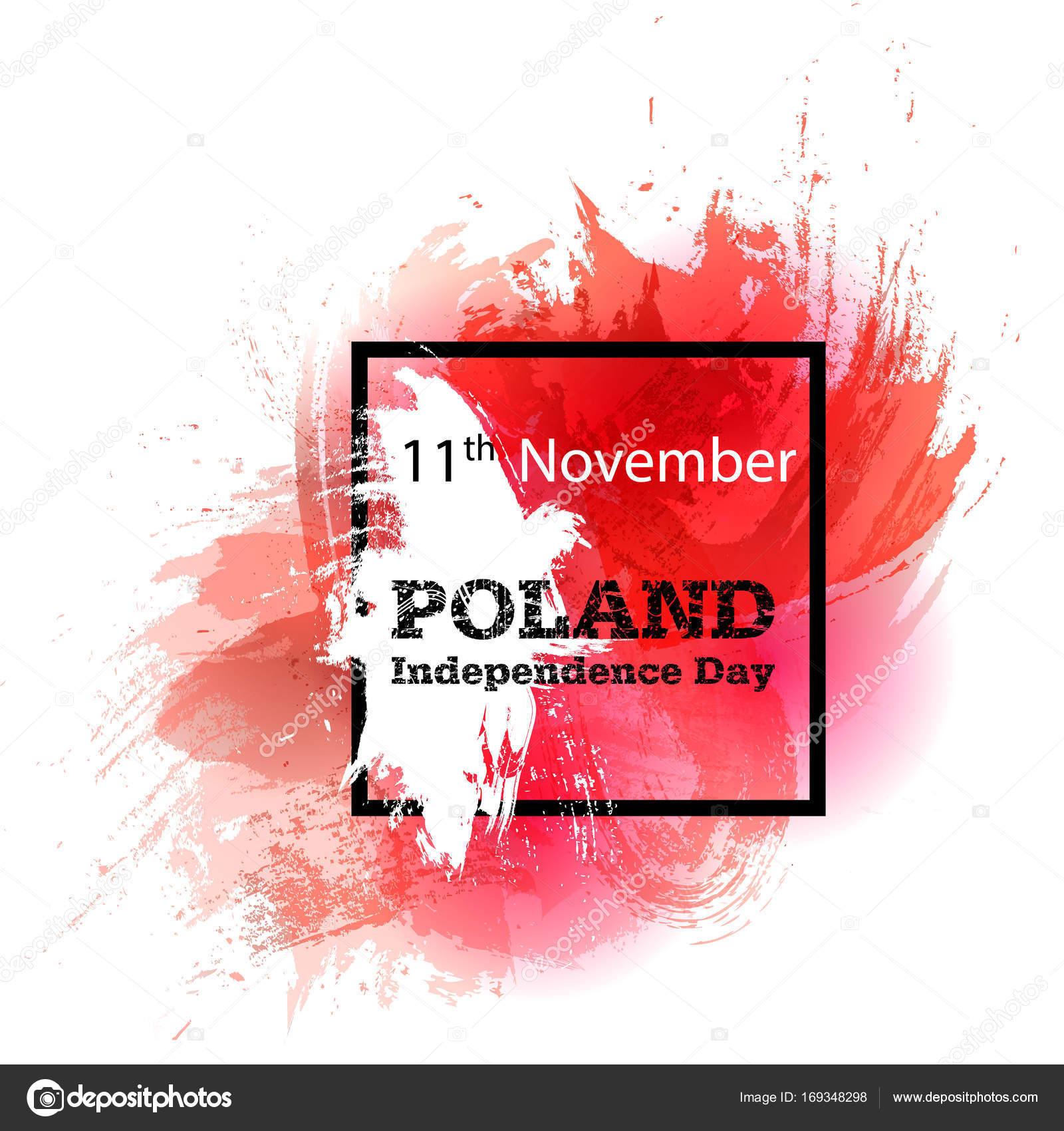 Wektor Ilustracja święto Niepodległości Polski Polskiej