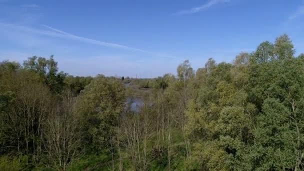Letět nad nizozemské krajině na řece Ijssel