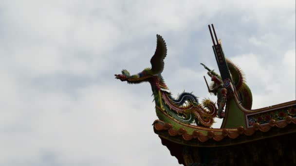 Střešní sochařství na chrám v Tamsui