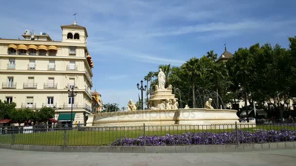 View of Fountain at Puerta de Jerez