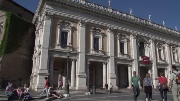People on piazza d'Aracoeli