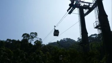 Cable cars in mountains