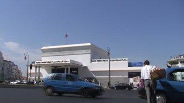 Rabat train station, street traffic