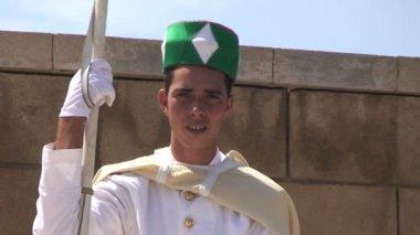 Guard at Hassan Tower