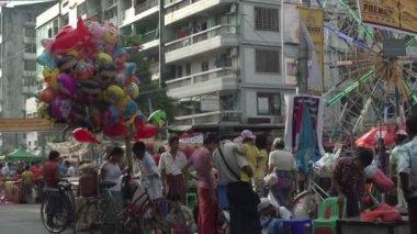 Yangon, street fair