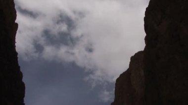 Todra Gorge, river, tilt-down