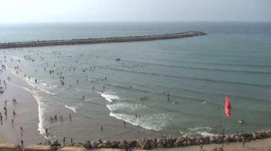 People on Rabat beach