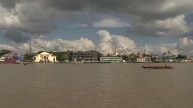 Pathein, Skyline from the ferry