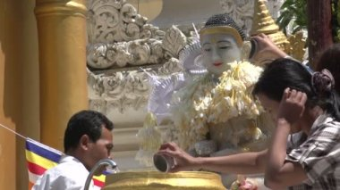 Bathing Of Buddha Statue