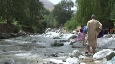 Family at Ourika river