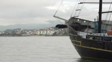 Footage of boats in Florianopolis, harbour