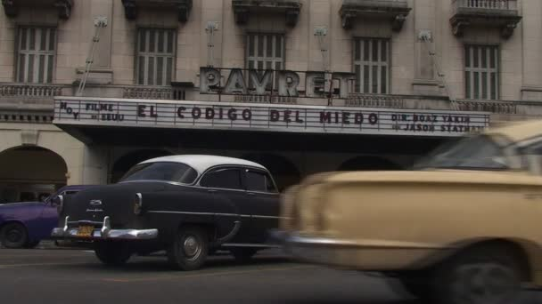 Cinema Payret and typical vintage cars