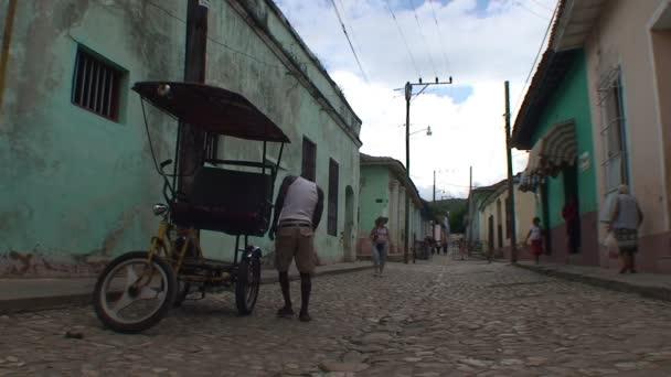 rickshaw in streets of Trinidad city