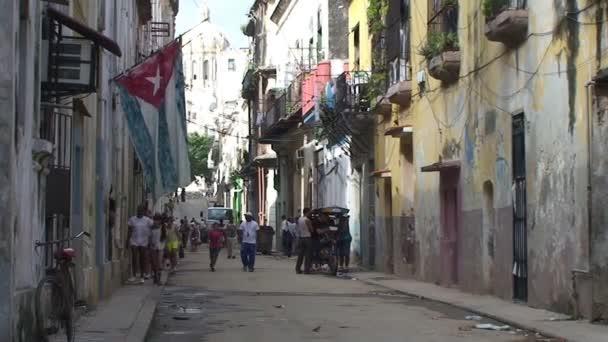 Cuban flag in street of Havana