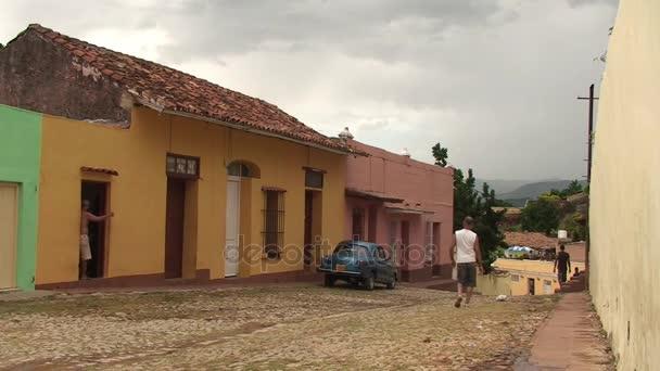 People walking in street of Trinidad