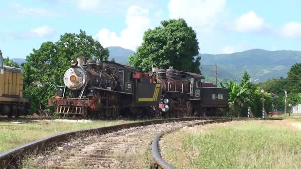 View of classic old steam train
