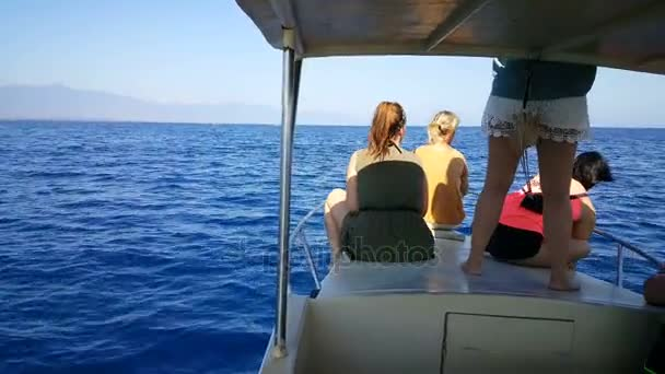 Seascape with people on boat