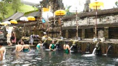 Ritual of water purification at Tirta Empul Temple, Bali