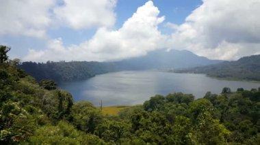 Twin Lakes Buyan and Tamblingan from above, pan shot