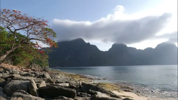 Clouds over islands of El Nido, Philipinnes, time lapse