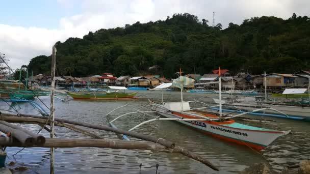 Boats near beach of Taytay. Philippines