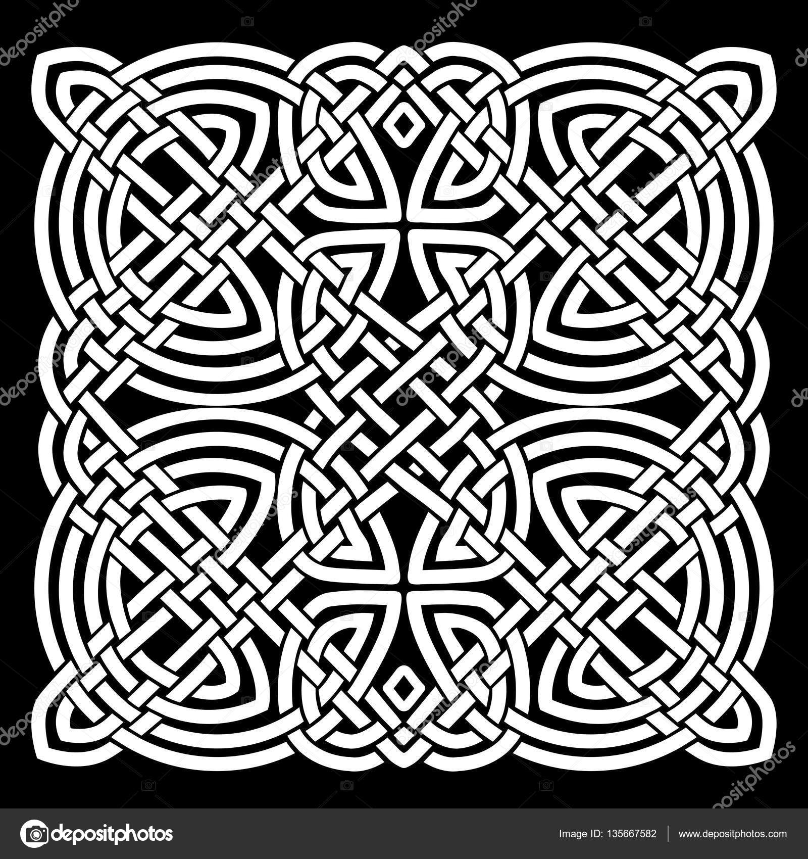 Illustration Of A Black And White Celtic Mandala Background, For Ornaments  And Tattoos Pattern U2014 Vector By Benchyb