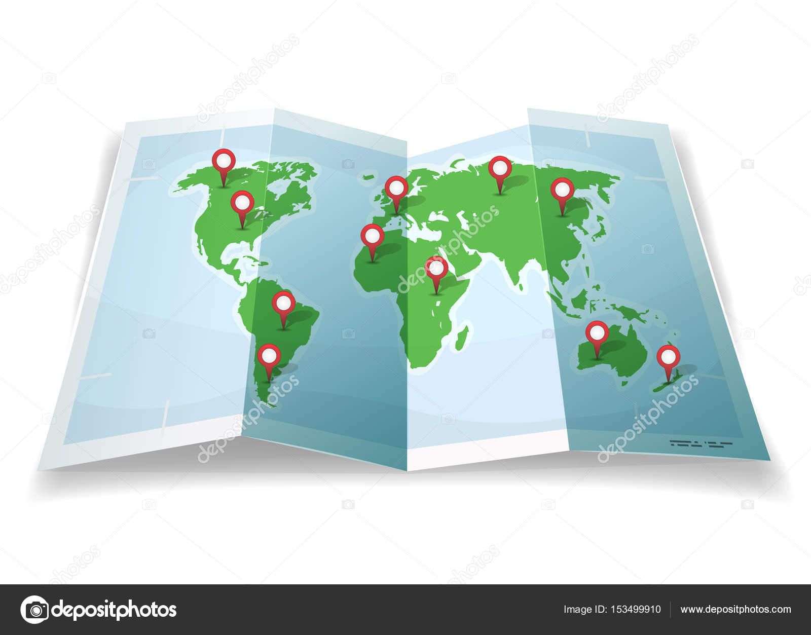 Carte Du Monde Dessin Simple.Illustration Une Carte Monde Simple Dessin Anime Avec Des