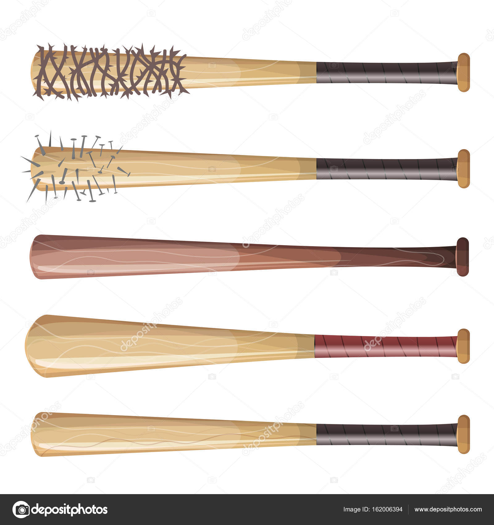 Baseball Bats Set — Stock Vector © benchyb #162006394