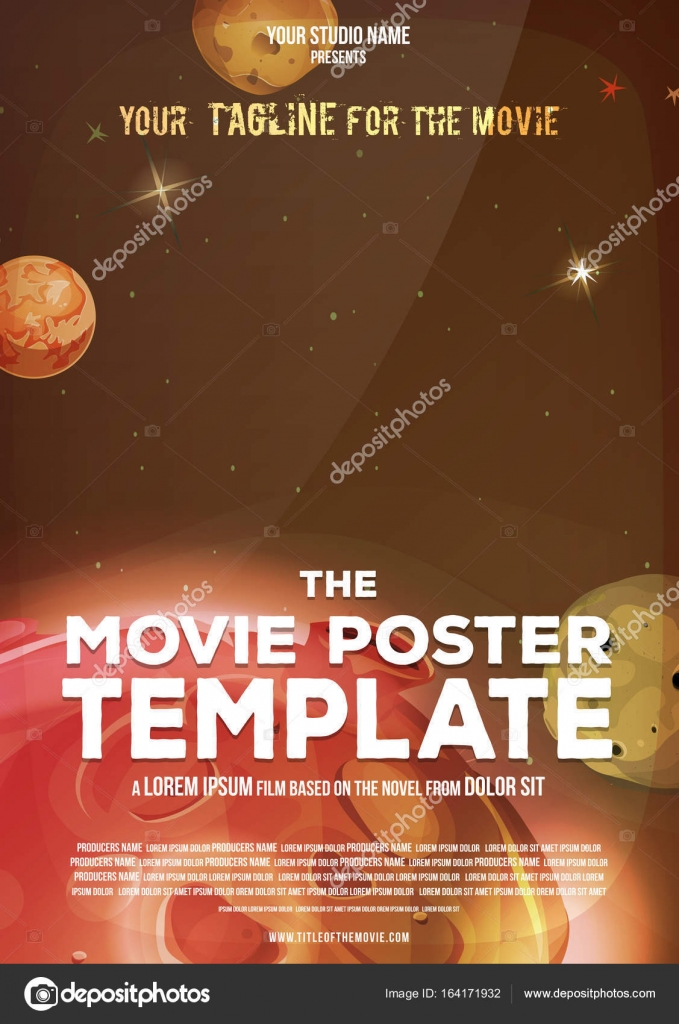 Movie Poster Template — Stock Vector © benchyb #164171932