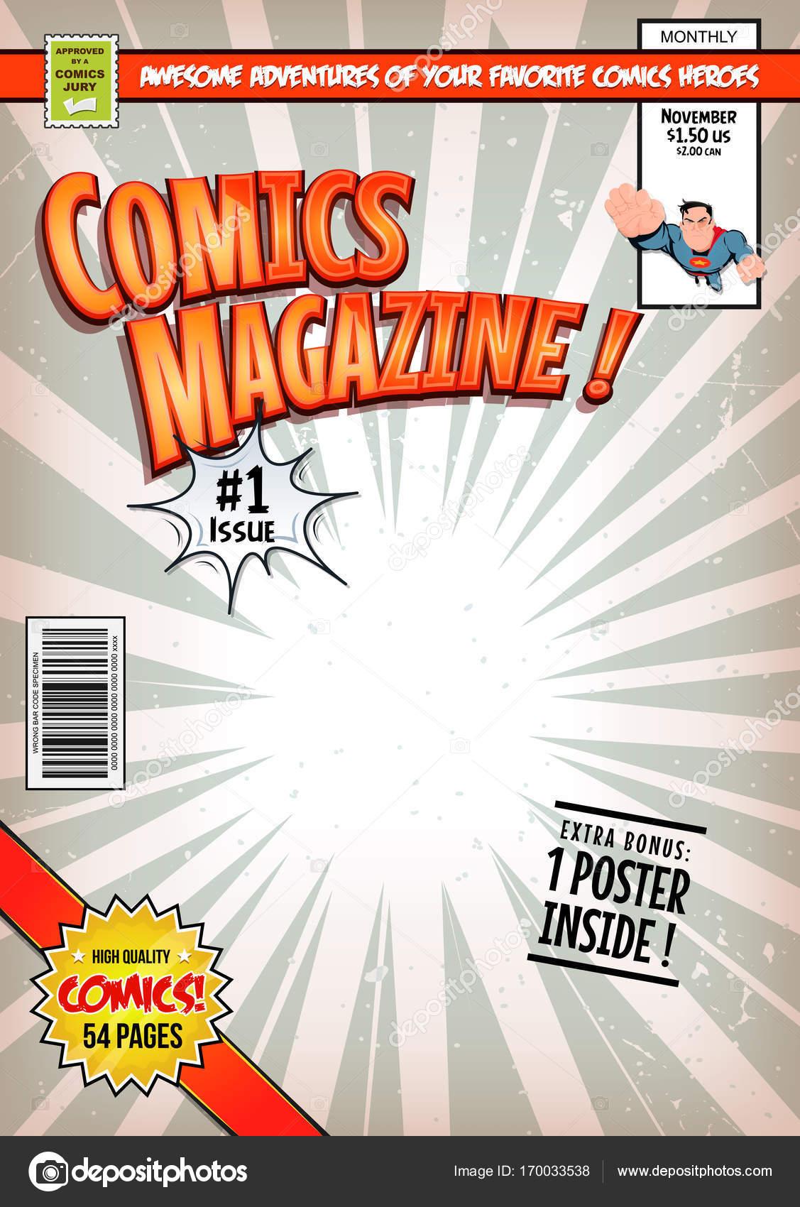 comic book cover template stock vector benchyb 170033538