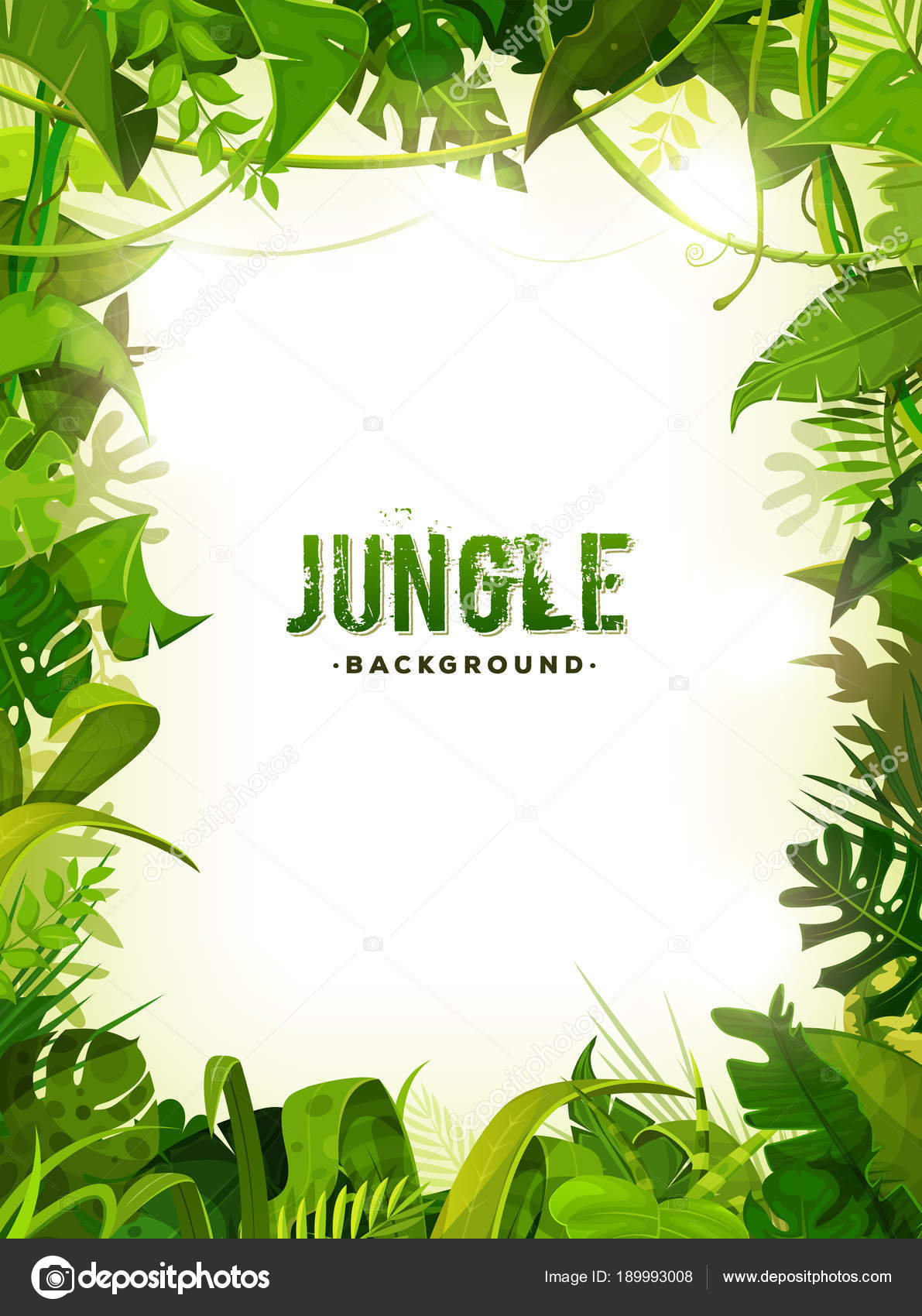 Marco selva con ornamentos hechos con hojas follaje rboles plantas archivo im genes - Marcos para plantas ...