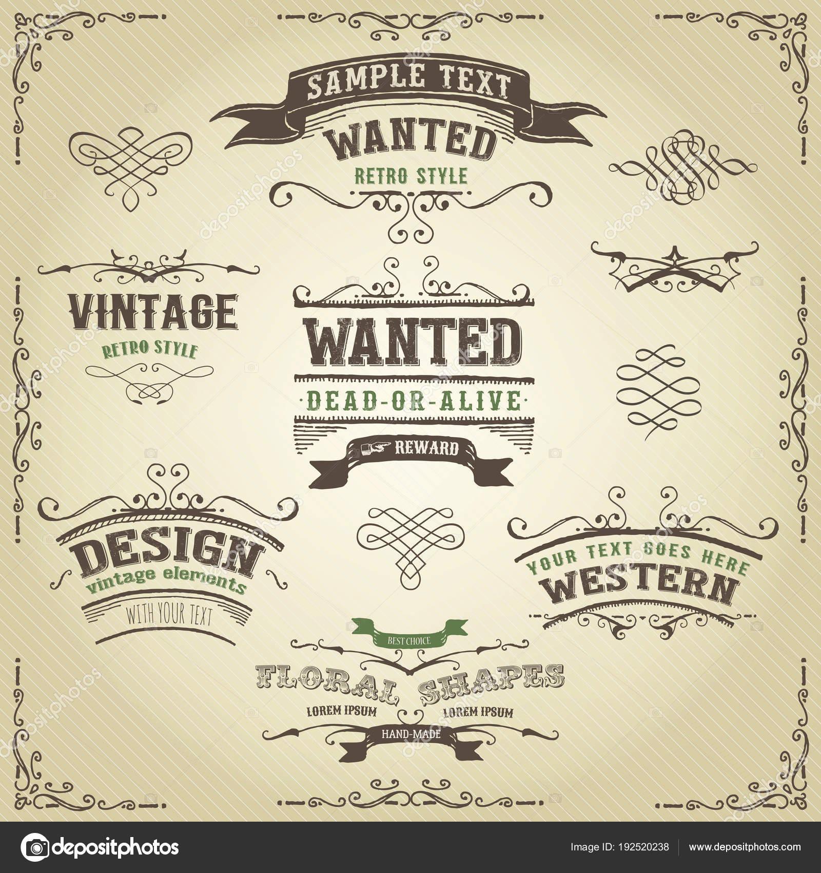 Vintage Alte Wollte Plakat Plakat Vorlage — Stockvektor © benchyb ...