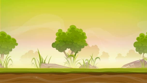 Seamless Forest Landscape Animation Game Animation Cartoon ...