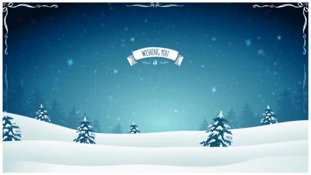 Postkarte Weihnachten Landschaft Animation Animation Einer ...