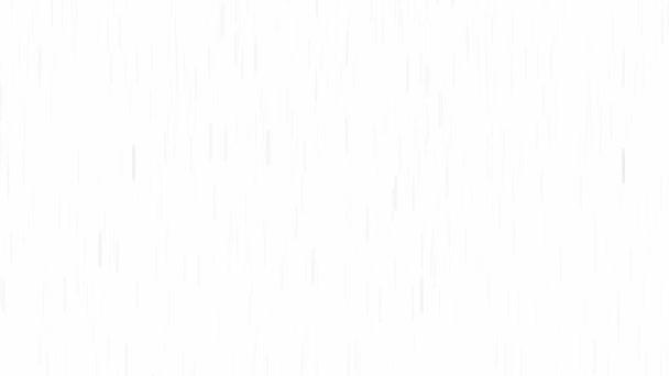 abstrakter Niederschlagshintergrund / loopbare Animation von Regen oder Schnee, der mit Geschwindigkeit in schwarz-weiß fällt
