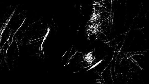 Grunge, szomorú textúra animált Loop / animáció egy évjárat-motion grafika a fekete-fehér grunge textúra, minták a repedések, a szennyeződéseket és a foltokat bajba jutott