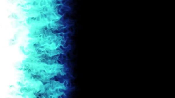 Blu Fuoco Fiamme Accensione Masterizzazione Animato Sfondo Blu Fuoco