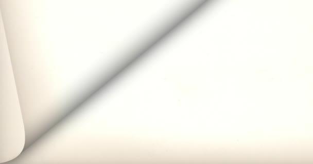 Pozadí stránky Flip s papíru / animace tři stránky zase vliv na pozadí papíru