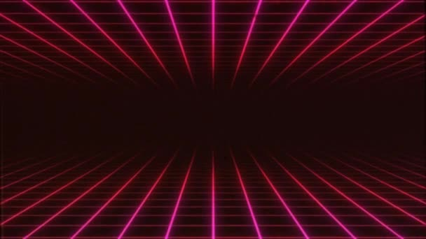 Eighties Tv Retro Synthwave 3d Grid Background Loop Stock Video C Benchyb 323056206
