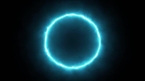 Abstraktní energetický kruh Pozadí Smyčka / 4k animace abstraktního pozadí se silovým laserovým energetickým kruhem zářící a bezešvé smyčky