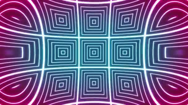 Abstraktní hypnotický Kaleidoskop Pozadí smyčka / 4k animace abstraktního pozadí se zářícími dlaždicemi bezešvé smyčky