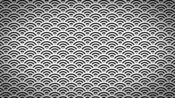 Abstract Japanese Patterns Ornaments Background Clip/ 4k animation of an abstract decorative background with japanese arts deco fishscale patterns seamless looping